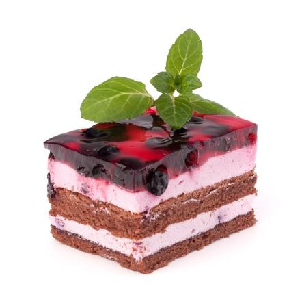 Delicious  cake piece isolated on white background Stock Photo - 13639358