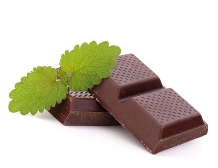 Chocolate bars stack isolated on white background Stock Photo - 13820093