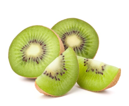 Kiwi fruit sliced segments isolated on white background cutout Stock Photo - 13820073
