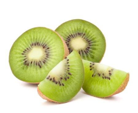 Kiwi fruit sliced segments isolated on white background cutout Stock Photo - 13820073