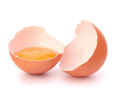 Broken egg isolated on white background Stock Photo - 13819987