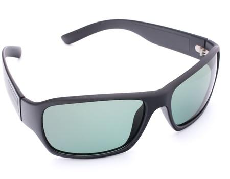 Stylish black sunglasses isolated on white background cutout Stock Photo - 14313299