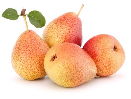 Ripe pear fruit isolated on white background cutout Stock Photo - 14424604