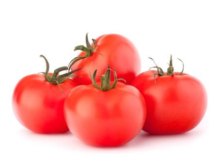 Tomato vegetables pile isolated on white background cutout photo