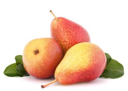 Ripe pear fruit isolated on white background cutout photo