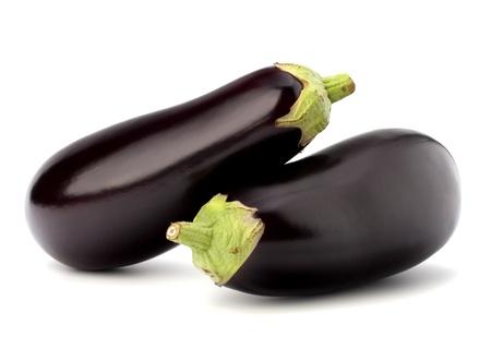 ナスや茄子白い背景の上に野菜