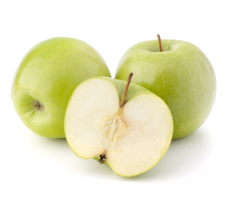 Green apple isolated on white background cutout photo