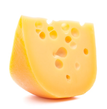 Cheese isolated on white background cutout photo