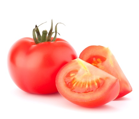 tomates: Verduras tomate pila recorte aislado en el fondo blanco