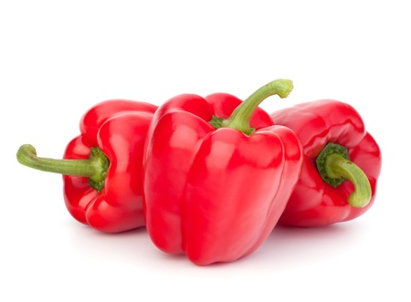 red pepper isolated on white background photo