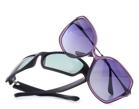 Stylish sunglasses pair isolated on white background cutout Stock Photo - 15011393
