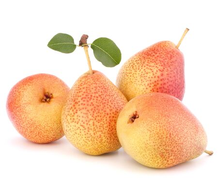 Ripe pear fruit isolated on white background cutout Stock Photo - 15504535