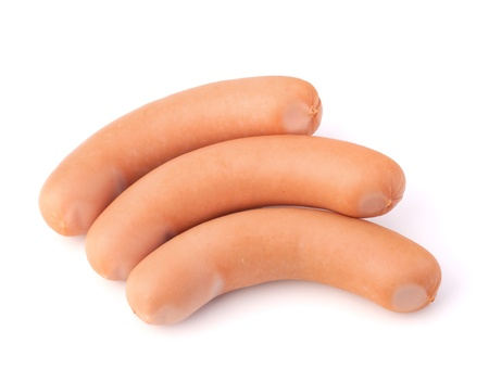 Frankfurter sausage isolated on white background Stock Photo - 15504414
