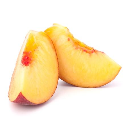 velvety: Ripe peach  fruit isolated on white background cutout