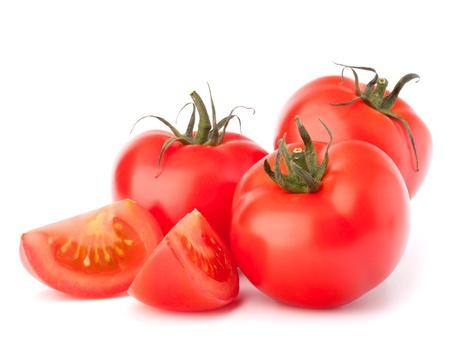 ホワイト バック グラウンド素材に分離されたトマト野菜杭