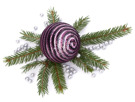 Christmas ball decoration isolated on white background photo
