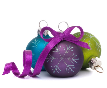 religious event: Christmas ball isolated on white background cutout