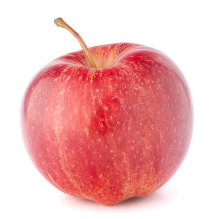 manzana roja: manzana roja sobre fondo blanco
