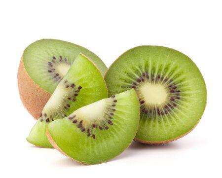 kiwi: Kiwi fruit sliced segments isolated on white background cutout
