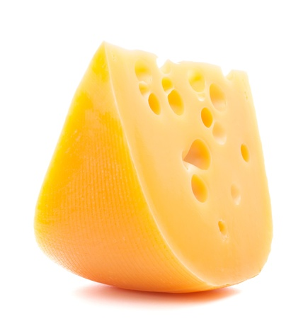 swiss cheese: Cheese isolated on white background cutout Stock Photo