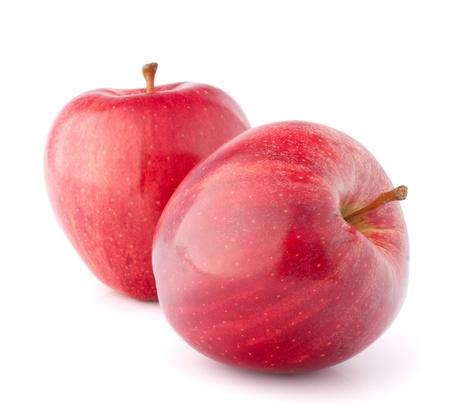 pomme rouge: Pomme rouge isolé sur fond blanc découpe