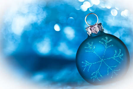 merrychristmas: Blue Christmas card with copy space Stock Photo