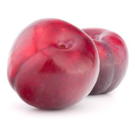Ripe plum  fruit isolated on white background cutout Stock Photo