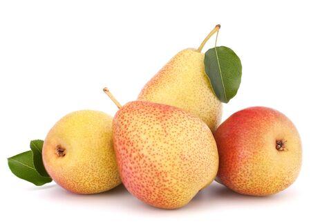 Ripe pear fruit isolated on white background cutout Stock Photo - 16801670