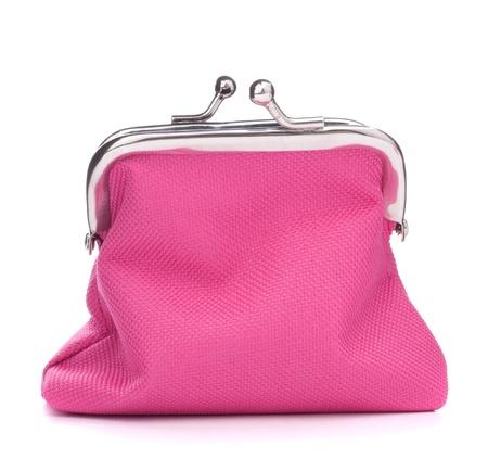白い背景の切り欠きに分離された空のオープン財布