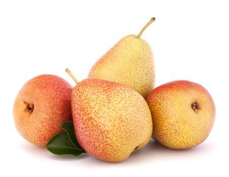 Ripe pear fruit isolated on white background cutout Stock Photo - 17621360