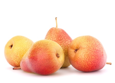 Ripe pear fruit isolated on white background cutout Stock Photo - 17723665