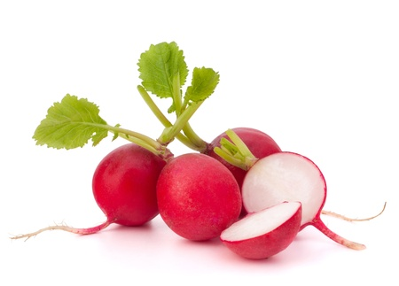 Small garden radish isolated on white background cutout photo