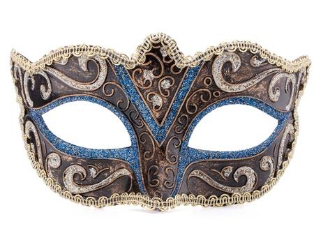 Venetian carnival mask isolated on white background cutout Stock Photo
