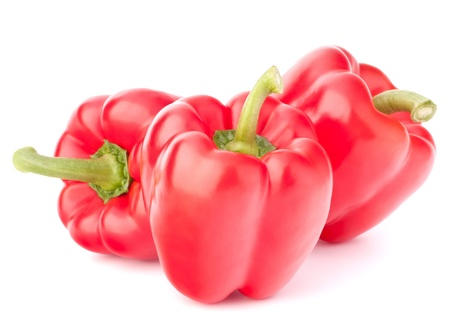 Sweet red pepper isolated on white background cutout photo