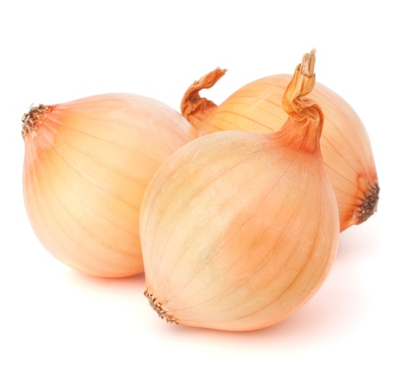 Onion vegetable bulbs on white background cutout photo