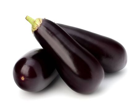 eggplant or aubergine vegetable on white background Stock Photo - 18504625