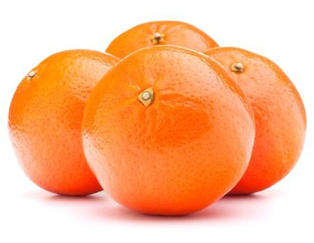 tangerine or mandarin fruit isolated on white background cutout photo