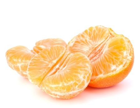 Orange mandarin or tangerine fruit isolated on white background photo