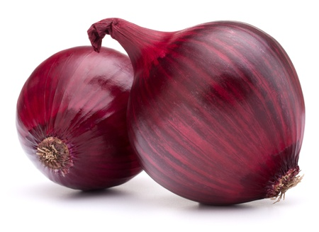 red onion bulb isolated on white background cutout photo