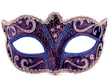 Venetian carnival mask isolated on white background cutout Stock Photo - 19514775
