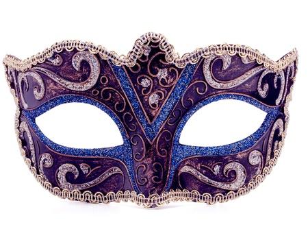 maski: Weneckie maski karnawałowe na białym tle Wycinanka