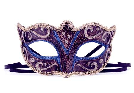 mascaras teatro: Carnaval veneciano m?ara aislado en el fondo blanco recorte
