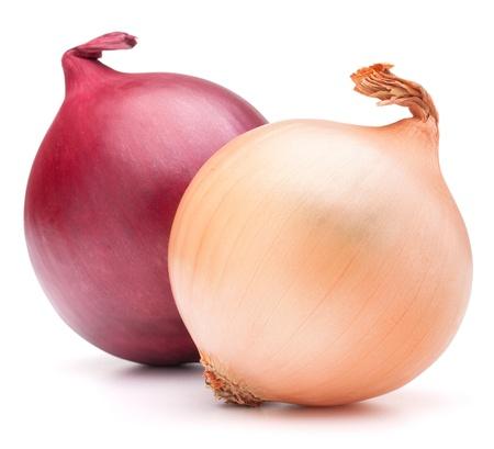 cebolla blanca: Bulbos vegetales cebolla aislados sobre fondo blanco recorte