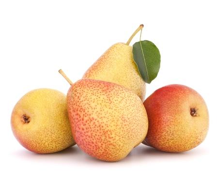 Ripe pear fruit isolated on white background cutout Stock Photo - 21151874