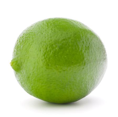 lemon lime: Citrus lime fruit isolated on white background cutout