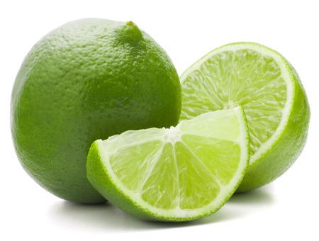citricos: Fruta c�trica de lima aislado en el recorte de fondo blanco Foto de archivo