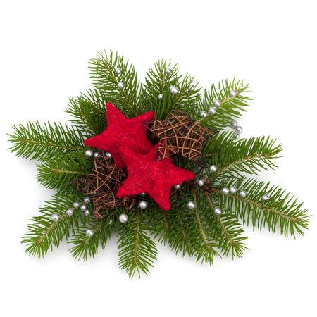 comida de navidad: Decoraci�n de Navidad aislado en el fondo blanco