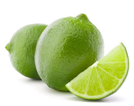 Citrus lime fruit geïsoleerd op een witte achtergrond knipsel