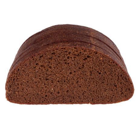 pain de seigle isolé sur blanc Banque d'images