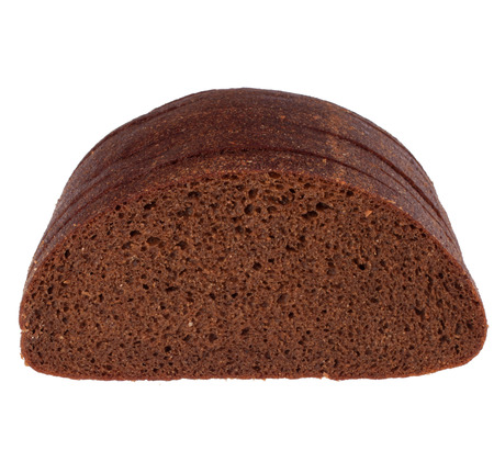 rye bread isolated on white  photo